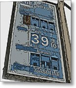 Old Full Service Gas Station Sign Metal Print
