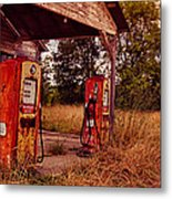 Old Gas Station 2 Metal Print