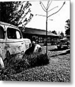 Old Gas Station Metal Print