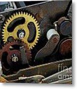 Old Gears Mechanism Metal Print by Sami Sarkis