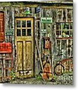 Old General Store Hdr Metal Print