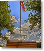Old Glory Bench Metal Print by Bill Tiepelman