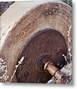 Old Grinding Wheel Metal Print