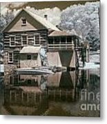 Old Grist Mill In Infrared Metal Print