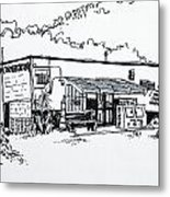 Old Grocery Store - W. Delray Beach Florida Metal Print