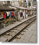 Old Hanoi By The Tracks Metal Print