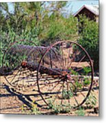 Old Hay Rake Metal Print
