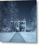 Old  House Infrared Metal Print