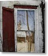 Old House Red Shutter 1 Metal Print