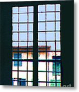 Old House Seen Through An Old Window Metal Print