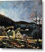Old Houses In Mogimont Metal Print