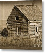 Old Hunting Cabin - Wyoming Metal Print by Donna Greene