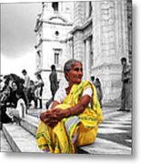 Old Indian Woman Metal Print