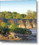 Old Interurban Bridge Metal Print