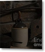 Old Items On A Stone Hearth 2 Metal Print