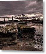 Old Jetty By The Bridge Metal Print