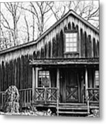 Old Log House Metal Print