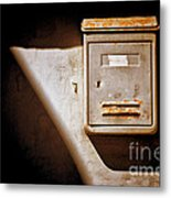 Old Mailbox With Doorbell Metal Print