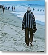 Old Man And The Beach Metal Print