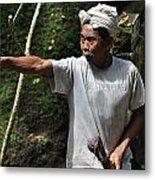Old Man In Bali Metal Print