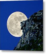 Old Man Meets The Man In The Moon Metal Print