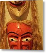 Old Men Masks Mexico Metal Print
