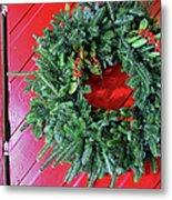 Old Mill Of Guilford Door Wreath Metal Print