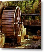 Old Mill Park Wheel Metal Print