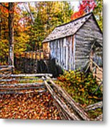 old mill Smoky Mountains Metal Print