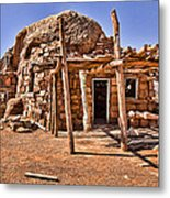 Old Navajo Stone House Metal Print