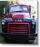 Old Nostalgic American Gmc Flatbed Truck . 7d9823 Metal Print by Wingsdomain Art and Photography