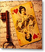 Old Playing And Key Metal Print by Garry Gay