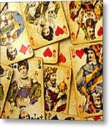 Old Playing Cards Metal Print
