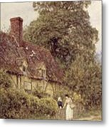 Old Post Office Brook Near Witley Surrey Metal Print