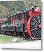 Old Rail Snow Pusher Metal Print