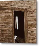 Old Ranch Hand Cabin Entry Metal Print