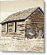 Old Ranch Hand Cabin L Metal Print