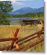 Old Ranch Wagon Metal Print