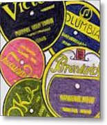 Old Record Labels Metal Print