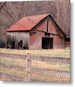 Old Red Barn Metal Print