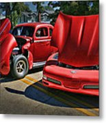 Old Red New Red Metal Print