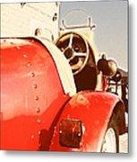 old Red Race Car Metal Print