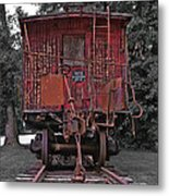 Old Red Train Metal Print
