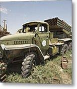 Old Russian Bm-21 Launch Vehicle Metal Print