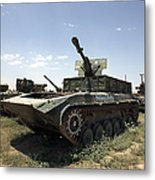 Old Russian Bmp-1 Infantry Fighting Metal Print