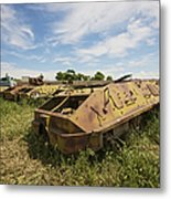 Old Russian Btr-60 Armored Personnel Metal Print