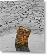 Old Rusted Barrel Abstract Metal Print