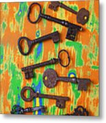 Old Rusty Keys Metal Print