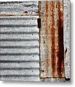 Old Rusty Sheet Metal Metal Print