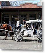 Old Sacramento California . Horse Drawn Buggy . 7d11482 Metal Print by Wingsdomain Art and Photography